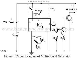circuit diagram of multi tone generator
