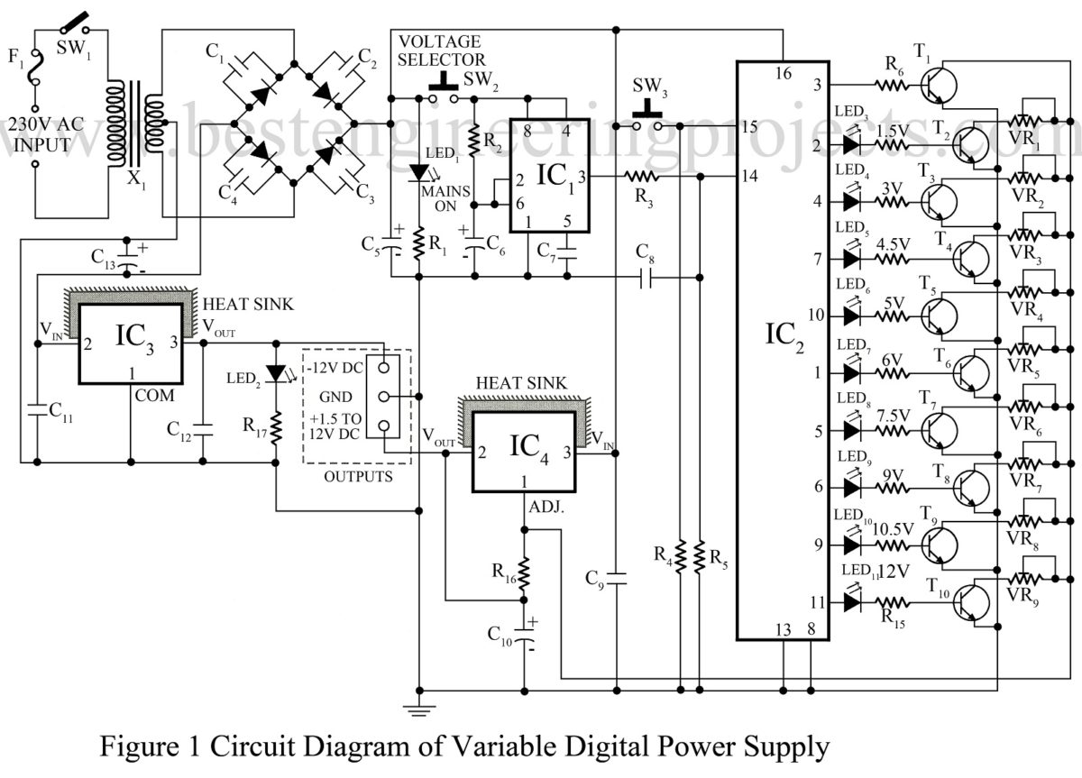 Circuit Diagram Of 6 Volt Power Supply
