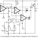 Voltage window comparator Circuit follows reference voltage