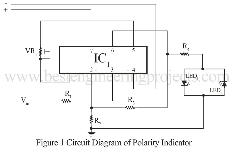 circuit diagram of polarity indicator