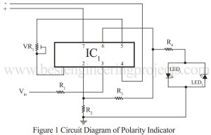DC Volt Polarity Indicator Using IC 741 | IC 741 Based Projects