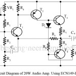 20W Audio Amplifier Using ECN149-ECP149 Pair Transistor