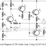 3W Audio Amplifier Using AC187-AC188 Pair