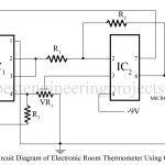 Electronic Room Thermometer Using Op-amp 741