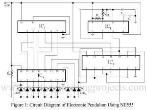 electronic pendulum using ne555