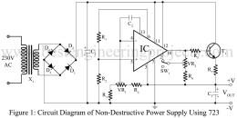 non-distructive power supply