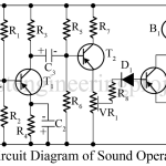 Sound Operated Relay Using Transistors