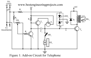 add on circuit for telephone