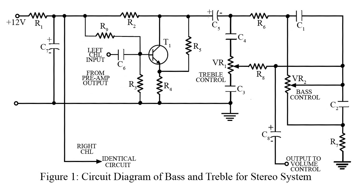 bass treble circuit | best engineering projects, Circuit diagram
