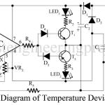 Temperature Deviation Indicator Using OP-AMP 741