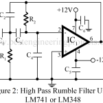 High Pass Filter Circuit | Rumble Filter