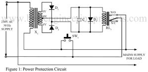 circuit diagram of power protection unit