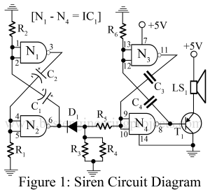 circuit diagram of electronic siren