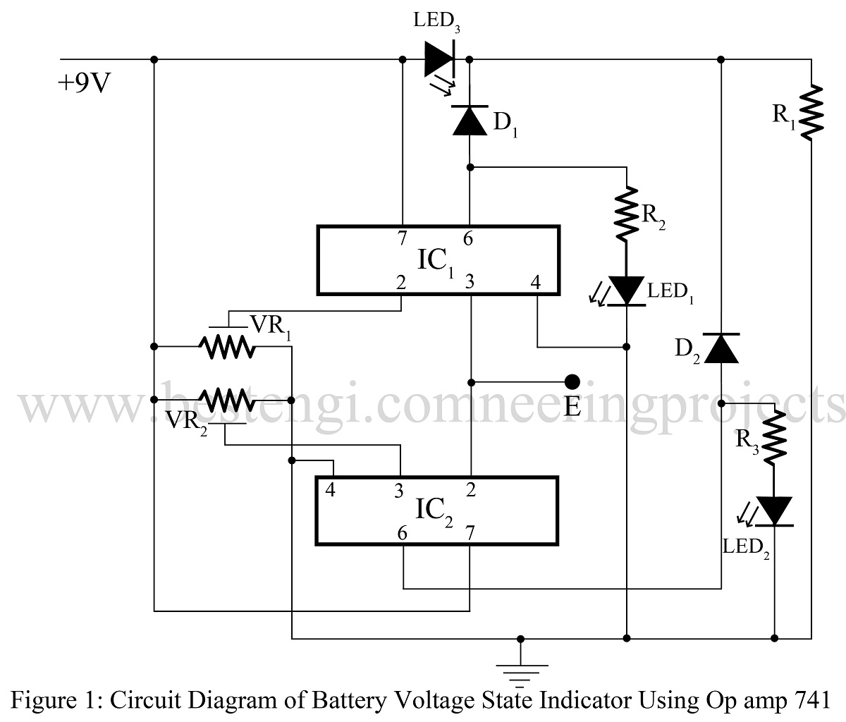 9v Battery Circuit Symbol. Stunning The Circuit Diagram For The V ...