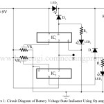 Battery Voltage State Indicator using 741