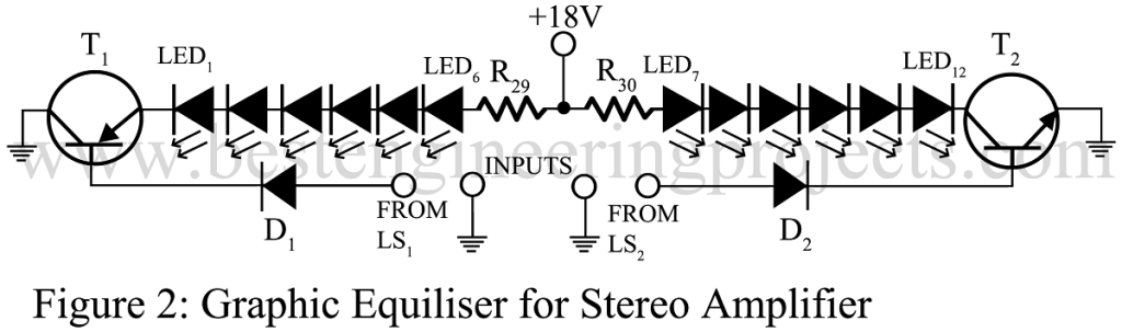 graphic equiliser for stereo amplifier