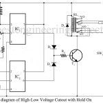 High/Low Voltage Cut-out Using Op-Amp 741