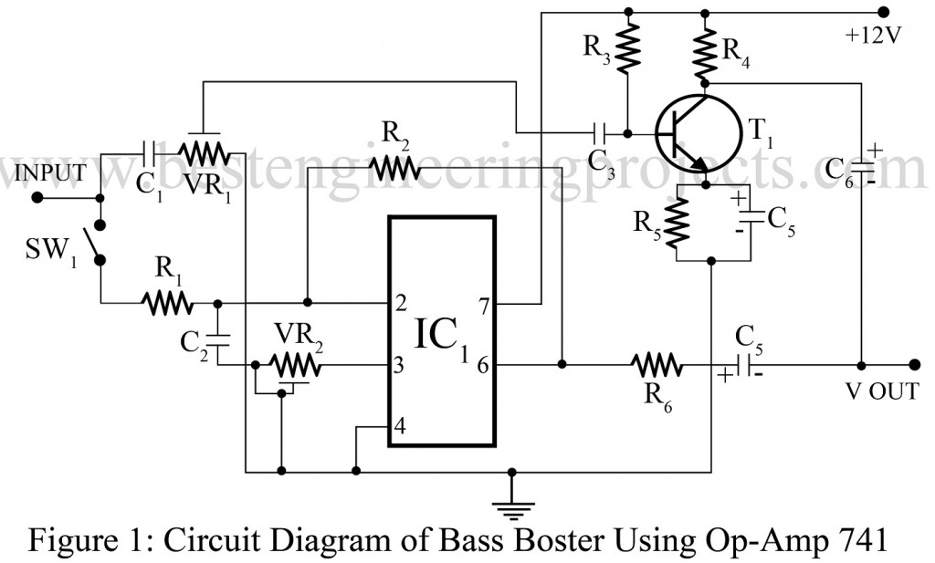 circuit diagram of bass booster