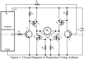 circuit diagram of hypnotizer using arduino