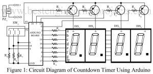 circuit diagram of countdown timer using arduuino