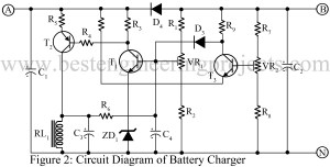 12 V Battery Charger with overcharge and deepdischarge protecting