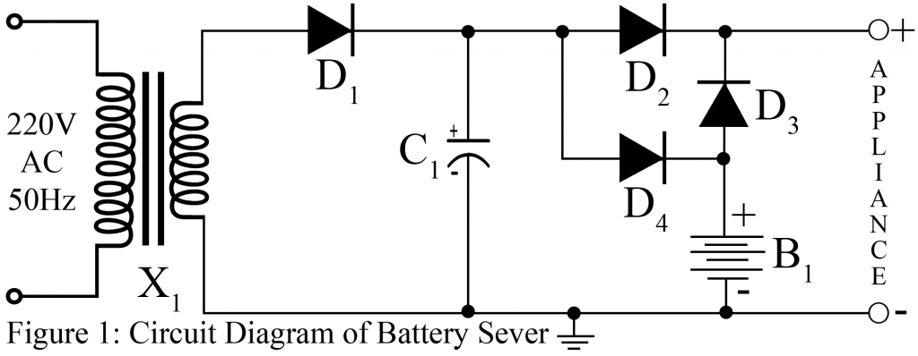 circuit diagram of battery sever