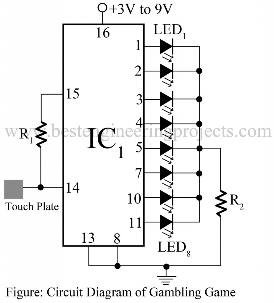 Electronic Dice Circuit Diagram - Wiring Diagram