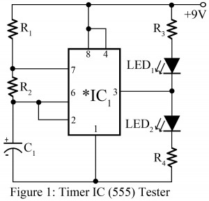 timer ic 555 tester