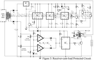 circuit diagram of load protector with remote switching facility