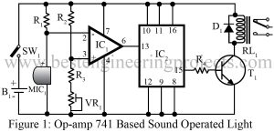 sound operate switch