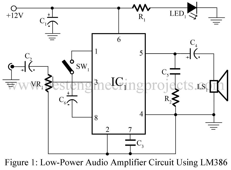 Amplifier Circuit Diagram | Power amplifier | Voltage Amplifier