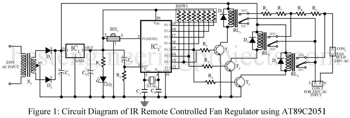 Ir remote controller fan regulator using at89c2051 pooptronica Gallery