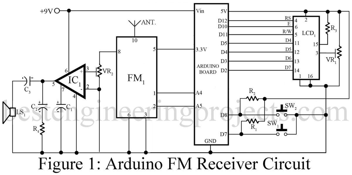 Arduino Fm Receiver Circuit Using Tea5767 Best