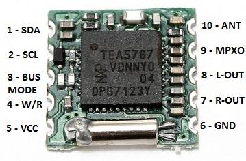 FM radio board for arduino