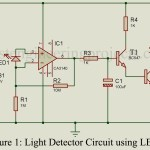 DIY Light Detector Circuit using LED