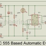 IC 555 Based Automatic evening lamp