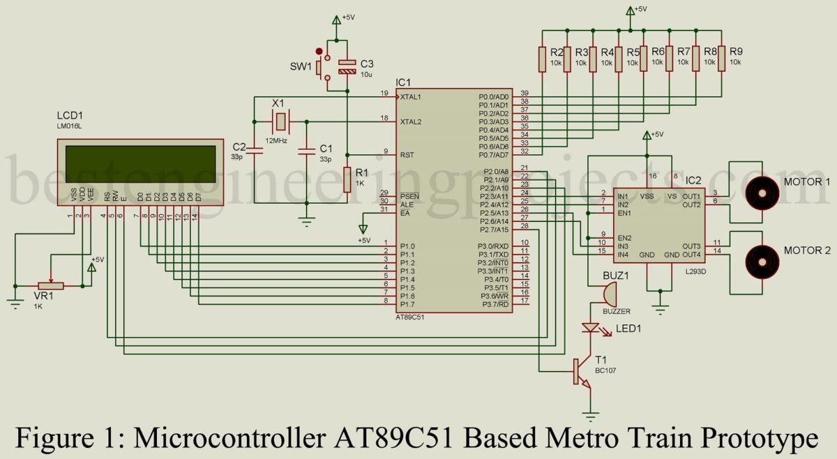 Microcontroller at89c51 based metro train prototype best circuit description of microcontroller at89c51 based metro train prototype ccuart Images