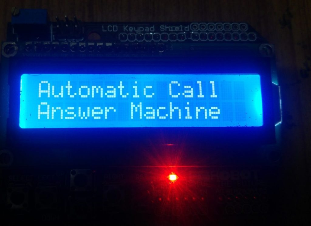 author prototype of automatic call answer machine