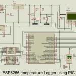 ESP8266 Temperature Logger using PIC16F887