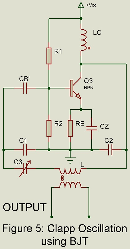 Clapp Oscillation using bjt circuit