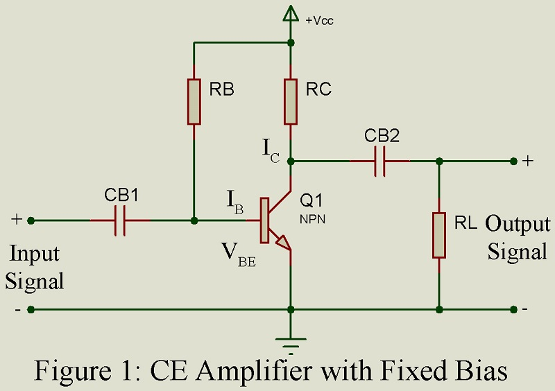 common emitter amplifier with fixed bias