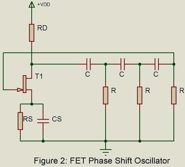 fet phase shift oscillator