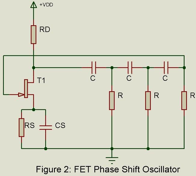 fet phase shift oscillator