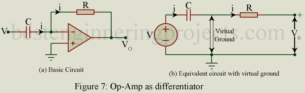 differentiator cirucit using op amp