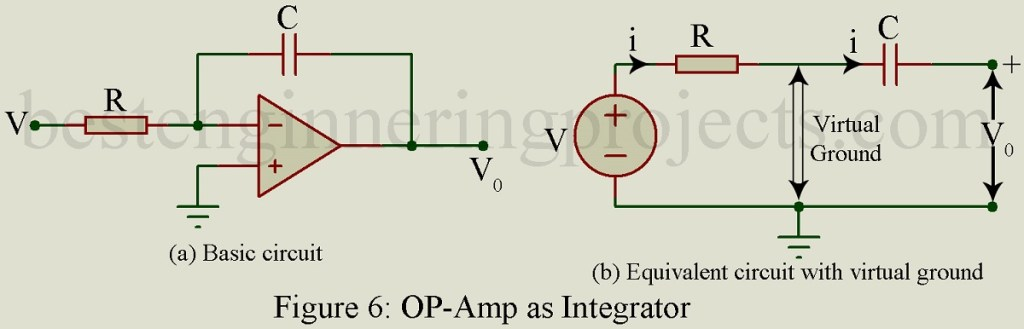 integrator circuit using op amp