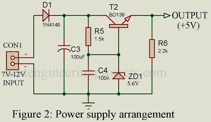 power supply arrangement for VU meter