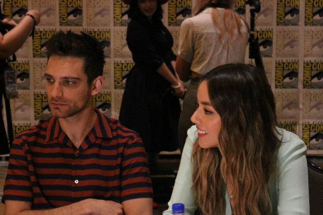Marvel's Agents of S.H.I.E.L.D. Press Room Jeff Ward and Chloe Bennet