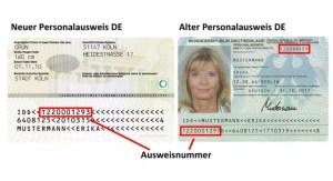 EWR-Personalausweis Dokumentennummer