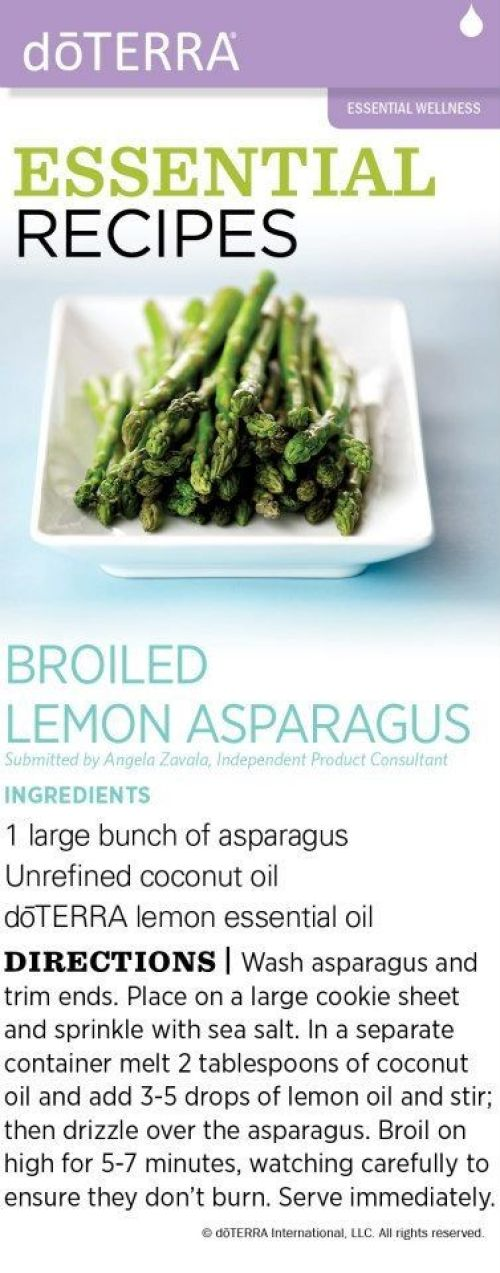 doTERRA Broiled Lemon Asparagus Recipe