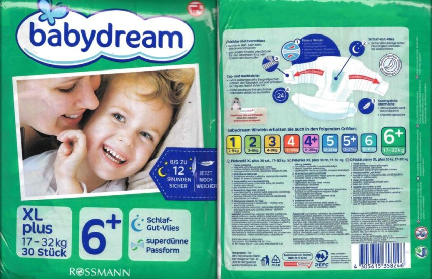 Testpackung Babydream 6+ XL plus